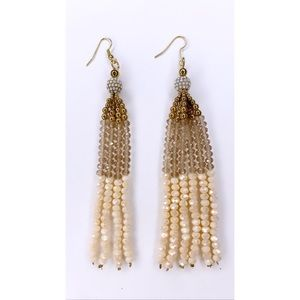 Beautiful gold dangle earrings